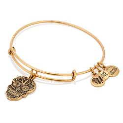 Calavera Bangle in Rafaelian Gold