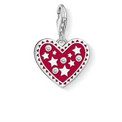 Buy Thomas Sabo Red Enamel CZ Stars Heart Charm