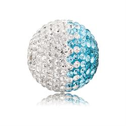 Turquoise and White Crystal Sound Ball Small
