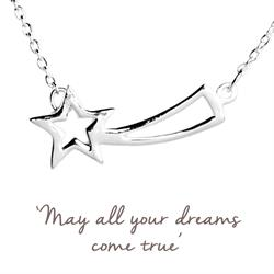 Mantra Shooting Star Necklace in Silver