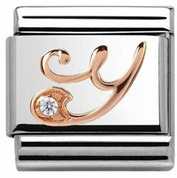 Buy Nomination Rose Gold CZ Letter Y