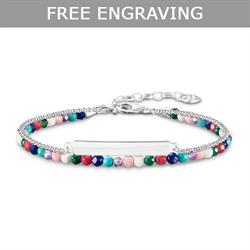 Multi Bead Double Love Bridge Bracelet 19cm