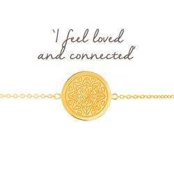 Love Mandala Disc Bracelet in Gold