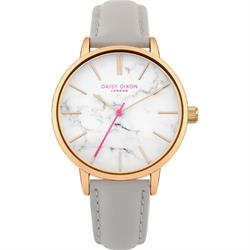 Nancie Rose Gold and Marble Grey Watch
