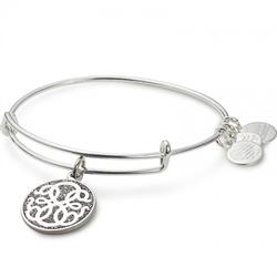 Alex and Ani Path of Life Colour Infusion Bangle in Shiny Silver