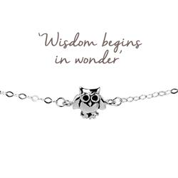 Buy Mantra Owl Bracelet in Silver