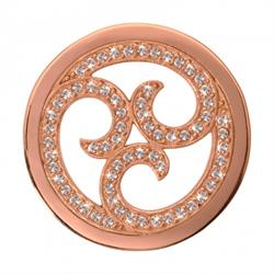 Rose Gold Sparkling Curls Coin 33mm