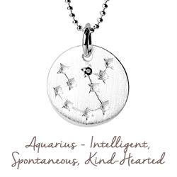 Aquarius Star Map in Silver