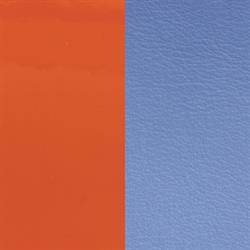 Wide Orange / Cornflower Leather