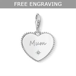 Thomas Sabo CZ Mum in Heart Charm