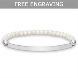 Thin Love Bridge Pearl Bracelet Medium