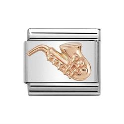 Rose Gold Saxophone Charm