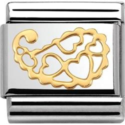 Cashmere Gold Hearts Charm