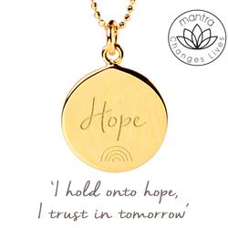 Hope NHS Charities Together, Charity Necklace in Gold