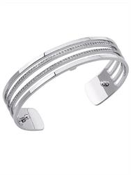 Buy Les Georgettes Slim Silver CZ Parallel Cuff
