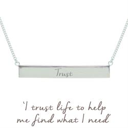 Nicky Clinch Trust Bar Necklace Silver