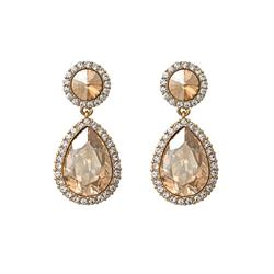 Miss Carlotta Golden Shadow Earrings