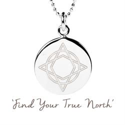 Wanderlust True North Disc Necklace in Sterling Silver