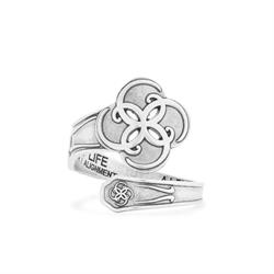Alex and Ani Breath of Life Spoon Ring in Silver