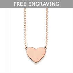 Glam & Soul Engravable Rose Gold Heart Necklace