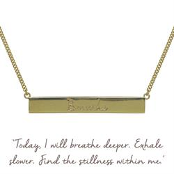 Buy Breathe Bar Mantra Necklace in Gold