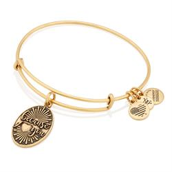 Because I Love You bangle in Rafaelian Gold Finish