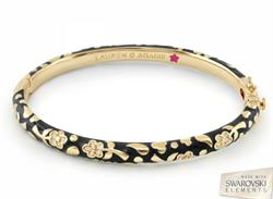 Lauren G Adams Flowers by Orly Black Bangle Small