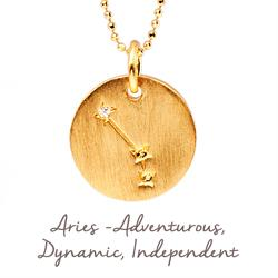 Aries Star Map in Gold