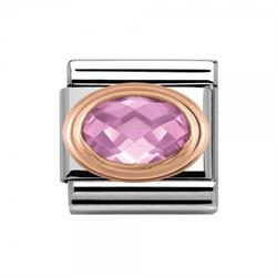 Buy Nomination Pink CZ With Gold Edge