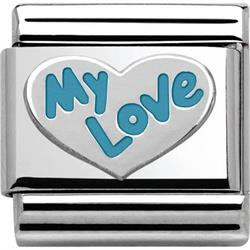 Silver and Blue My Love Charm