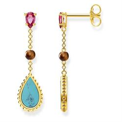 Gold Riviera Drop Earrings