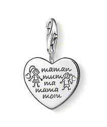 Outlet 'Mum' Heart Silver Charm