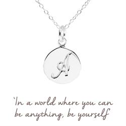 A Mantra Initial Necklace