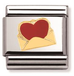 Gold Envelope with Red Heart