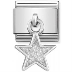 Hanging Glitter Star Charm by Nomination