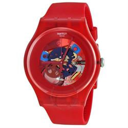 Swatch Red Lacquered Watch