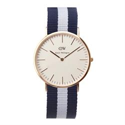 Daniel Wellington Mens Glasgow Watch in Rose Gold