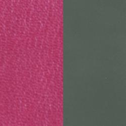 Khaki / Fuschia Slim Leather