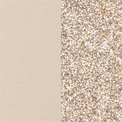 Cream/ Glitter Slim Leather