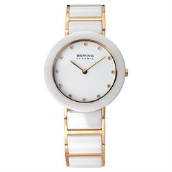 White Ceramic Rose Gold Watch