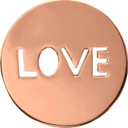 Rose Gold Love It Is Coin 23mm