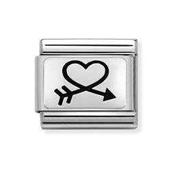 Silver Heart in Arrow Charm Nomination