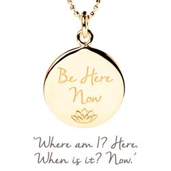 Be Here Now Disc Necklace in Gold