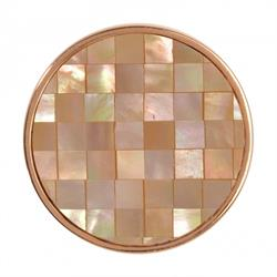 Yellow Gold Shell Mosaic Coin 33mm