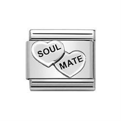 nomination silver soul mate heart charm