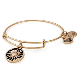 Rising Sun Bangle in Rafaelian Gold