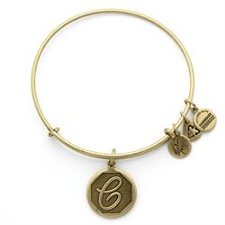 C Initial Bangle in Rafaelian Gold