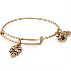 Alex and Ani Palm Leaf Bangle In Rafaelian Gold