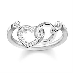 Silver CZ Together Forever Ring 52