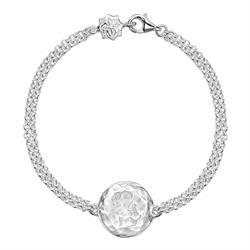 Dower and Hall Sterling Silver Hammered Disc Bracelet
